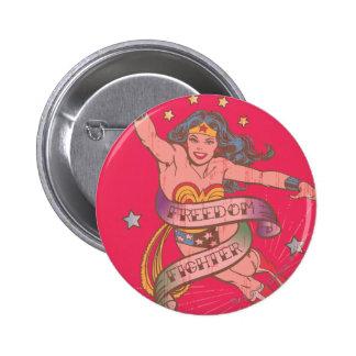 Combattant de liberté de femme de merveille badges
