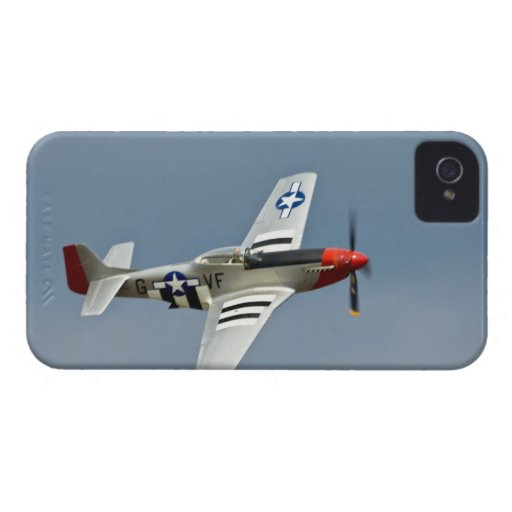 Combattant de mustang de P-51D avec voler d'inscri Étui iPhone 4