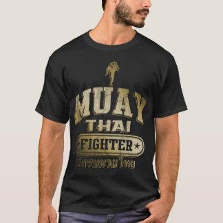 Combattant thaïlandais de Muay d'or T-shirt