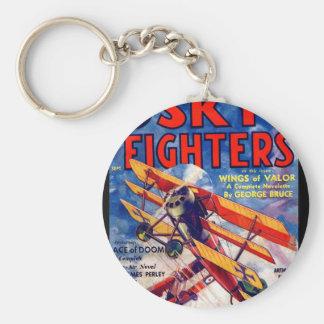 Combattants de ciel - septembre 1934 art d'a_Pulp Porte-clé Rond