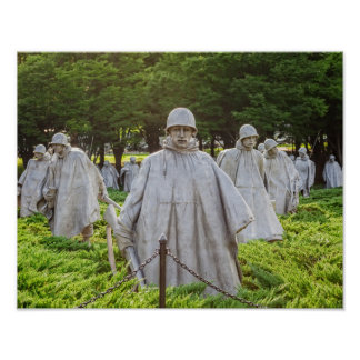 Combattants de Guerre de Corée commémoratifs Poster
