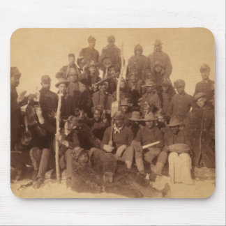 Combattants noirs de liberté de soldats de Buffalo Tapis De Souris