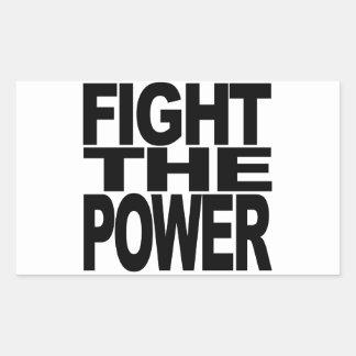 Combattez la puissance sticker rectangulaire