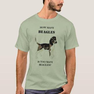 Combien de beagles est trop de beagles t-shirt