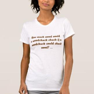 Combien de bois un mandrin de marmotte d'Amérique T-shirt