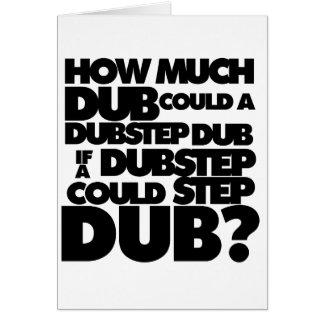 Combien de Dubstep ? Carte De Vœux