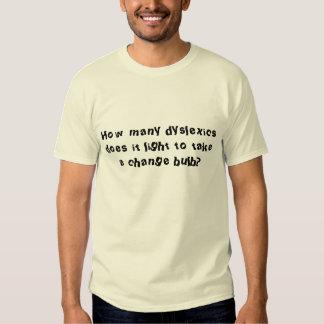Combien de dyslexiques il s'allume pour prendre un t-shirts