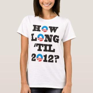 Combien de temps 'jusqu'à 2012 ? t-shirt