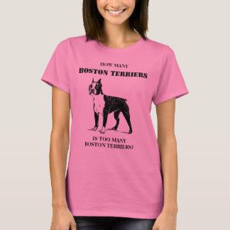 Combien de terriers de Boston est un trop grand T-shirt
