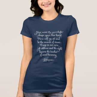 Combien doux le clair de lune, citation de t-shirt