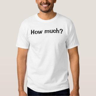 Combien ? Fou disposé T-shirts
