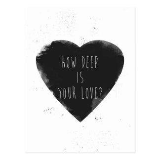 combien profond est votre amour carte postale