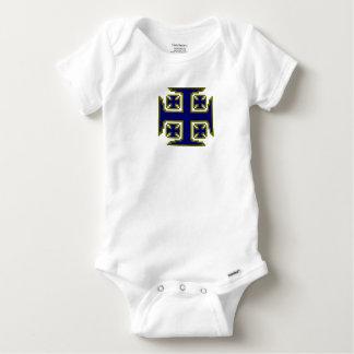 Combinaison bleue de Gerber de bébé de Kross™ T-shirt