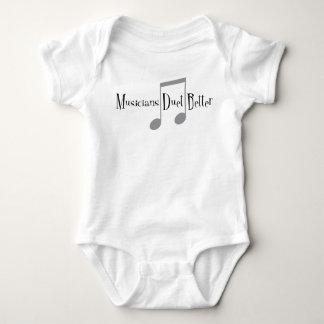 Combinaison de bébé de duo (notes) body