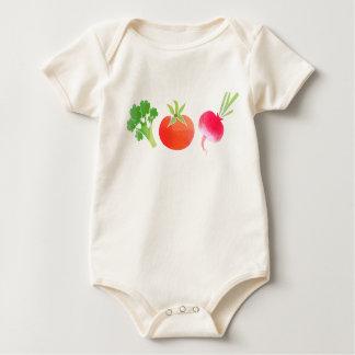 Combinaison de bébé de légume brocoli, de tomate body