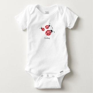 Combinaison de bébé de Lovebug de coccinelle T-shirt