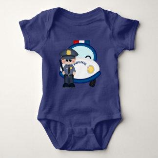 Combinaison de bébé de policier et de voiture body