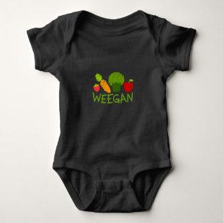 Combinaison de Weegan de bébé - obscurité Body
