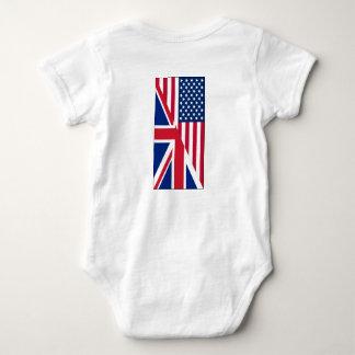 Combinaison du Jersey d'Américain et de bébé de T-shirts