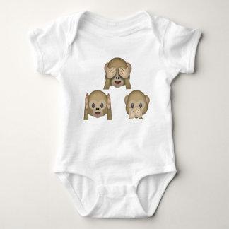 Combinaison du Jersey de bébé d'Emoji de trois Body