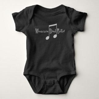 Combinaison foncée de bébé de duo (notes) body