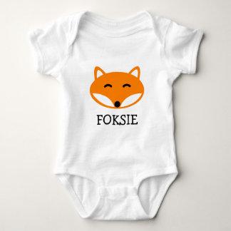 Combinaison mignonne de bébé de renard pour le t-shirts