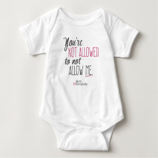 """Combinaison non permise de bébé """""""" (+couleurs body"""