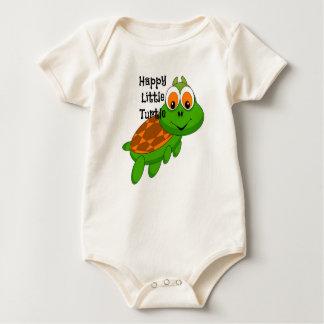 Combinaison organique de bébé de petite tortue body
