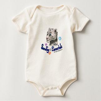 Combinaison organique féerique de bébé de coton de body