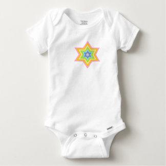 Combinaison pâle de Gerber de bébé de Burst™ T-shirt
