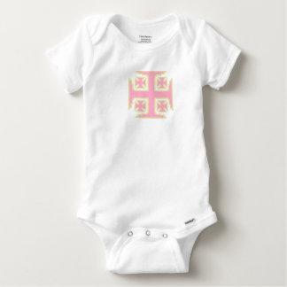 Combinaison rose de Gerber de bébé de Kross™ T-shirt