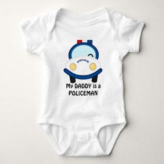 Combinaison unisexe de bébé de policier de papa body
