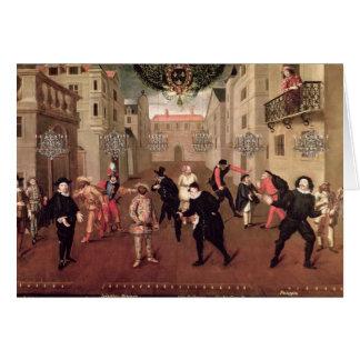 Comédiens italiens et français carte de vœux