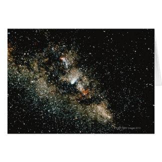 Comète de Halleys de la manière laiteuse Carte De Vœux