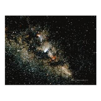 Comète de Halleys de la manière laiteuse Cartes Postales