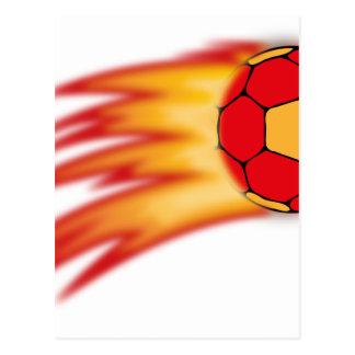 comète de handball carte postale