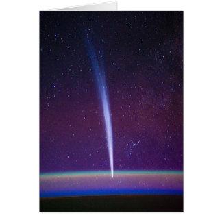 Comète Lovejoy près de l'horizon de la terre Carte De Vœux