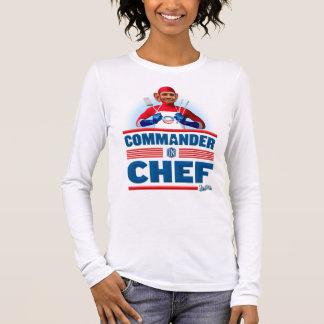 Commandant dans le chef t-shirt à manches longues