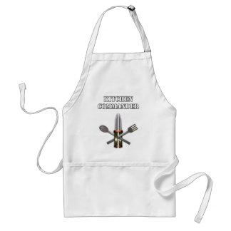 Commandant de cuisine tabliers