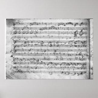 Commandant de G pour le violon, le clavecin et le  Poster