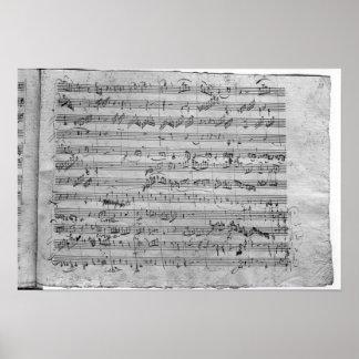 Commandant de G pour le violon, le clavecin et le  Posters