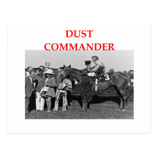 commandant de la poussière cartes postales