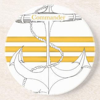 commandant d'or, fernandes élégants dessous de verre en grès