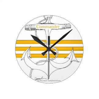 commandant d'or, fernandes élégants horloge ronde