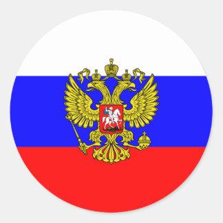 Commandant en chef de la Russie, Russie Sticker Rond