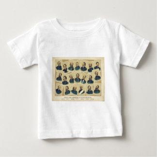 Commandants célèbres des syndicats de la guerre t-shirt
