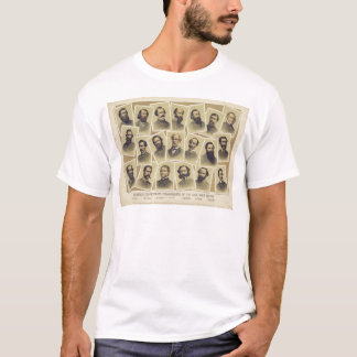 Commandants confédérés célèbres de la guerre t-shirt