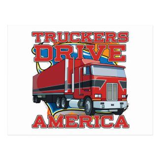 Commande Amérique de camionneurs Carte Postale