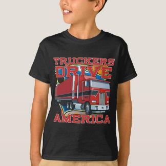 Commande Amérique de camionneurs T-shirt