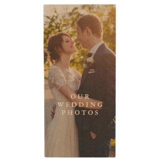 Commande d'instantané de photo de couples en bois clé USB